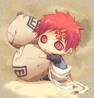 Gaara Lineart by cartoonboyplz