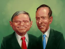 Kevin Rudd n Tony Abbott by scorpy-roy