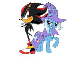 Shadow the Hedgehog and The Great Trixie by LightDegel