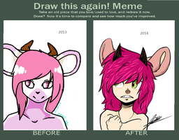 draw this again meme by abstractisme