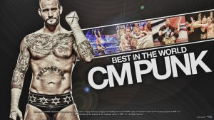 CM Punk 2012 Wallpaper by ChristoSivek