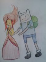 Finn and Flame Princess by Tatz-the-Catz