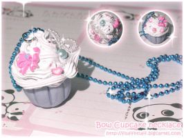 Bow Cupcake Necklace by Fluffntuff