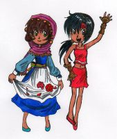 Rae and Vivie by sweet-suzume