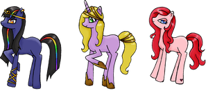 Custom adopts :D by SarahThePegasister