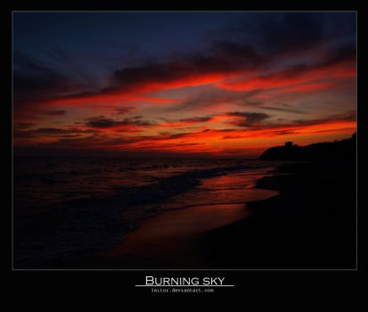 Burning sky by Leitor