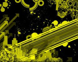 Yellow and Black Abstract by krpkmatt