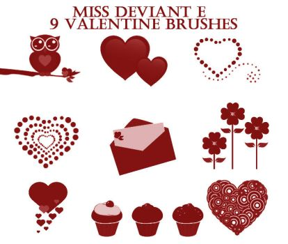 Valentine's Day Brushes by Miss-deviantE