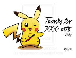 Pikachu - Thanks for 7000 hits! by rickymanson