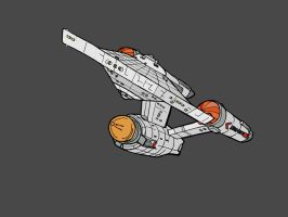 Constitution Class TOS Sketch 2012 by wookieebasher