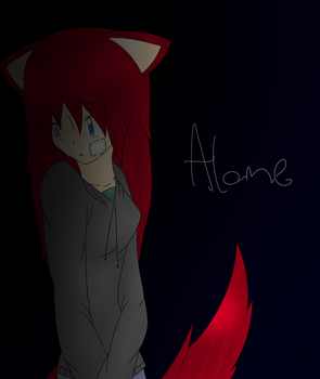 -Alone- by Huffie-Artist
