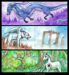 ACEO Cards: Other Worlds by MoonsongWolf