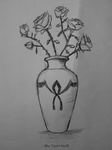 Vase With Roses Sketch by Rotemavid