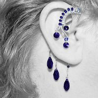 Dark Indigo Ear Wrap V3- SOLD by YouniquelyChic