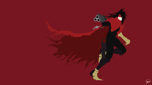 Vincent Valentine (Final Fantasy VII) Minimalism by greenmapple17