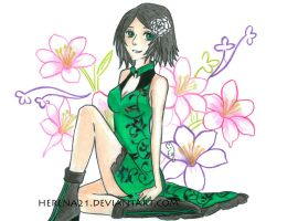 My OC Erika: full color version!! by Herena21