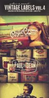 Vintage Labels PSD Retro Badges Vol.4 by yAniv-k