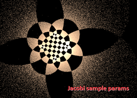 Jacobi elliptic nice settings by dark-beam