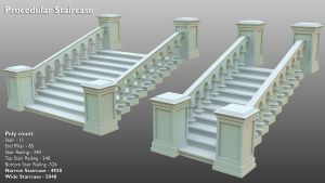 Procedural Staircase - 3D preview by Hellfire117
