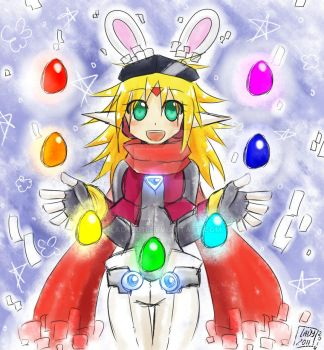 -Happy Easter 2014- Momo by Lady2011