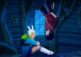 Fionna + Marshall lee by SasukeSkittles