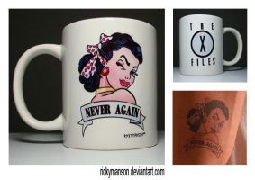 X-Files Never Again's Betty Coffee Mug by rickymanson