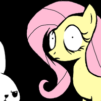 Fluttershy and Angel by Lupr
