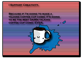 Support Creativity Stamp by AruneProject