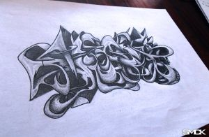 SmecK Graffiti Sketch 27 by SmecKiN