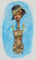 Mummy Pin Up by Jelleebelly