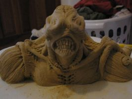 Nemesis sculpture on clay by GustavoAragao