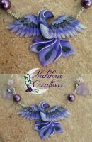 Purple Phoenix Polymer Clay by Nakihra