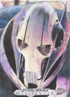 SW Masterwork-General Grievous Artist Return Card by DenaeFrazierStudios
