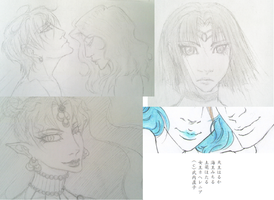 Sailor Moon Sketches by Shruika