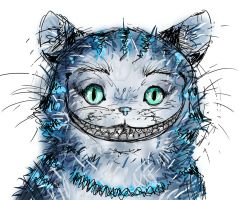 Cheshire cat sketch by Boochkin