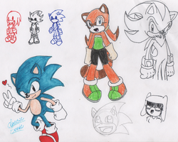 Sonic Colored sketchs by RockStarMaren123