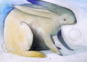 Rabbit and Crescent by SethFitts