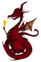 Dragon and the Fire Sprite by Ralola