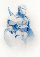 Blue Ironman by saltares