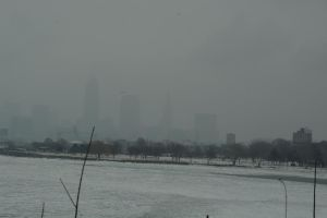 Cleveland in a snowstorm by TomKilbane