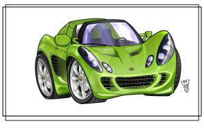 Green Lotus Elise by R0tti