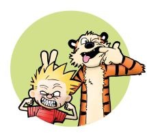 Calvin and Hobbes by JonatanCandeias
