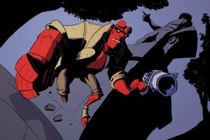 Hellboy Action Time by PandaFace