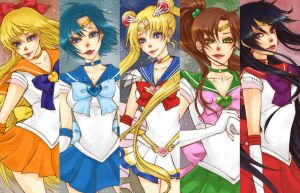 Sailor Senshi by shiawase-chan