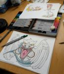 Tattoo Design: Back Dragon WIP by MySweetQueen