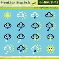 Vector Weather Symbols by melemel