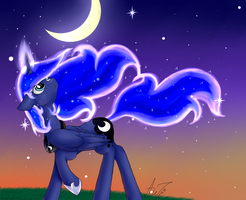 Moon rise by ArtyJoyful