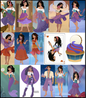 Esmeralda Collage by M-Mannering