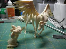 ChibiUsa and Pegasus Resin Figure WIP by leonasenshi