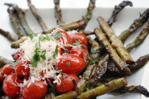 Asparagus and Tomatoes 2 by laurenjacob